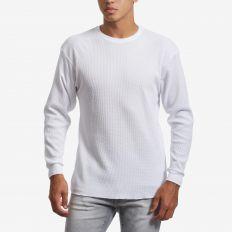 Thermal & waffel knit top