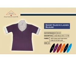 Short sleeve ladies blouse